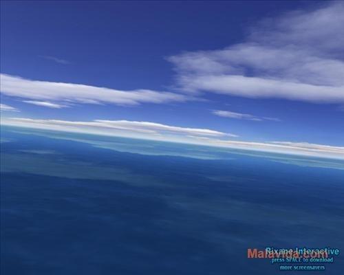 Flight over sea 3D Screensaver image 4