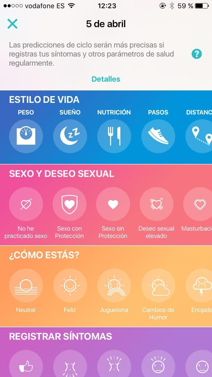 calendario menstrual gratis iphone