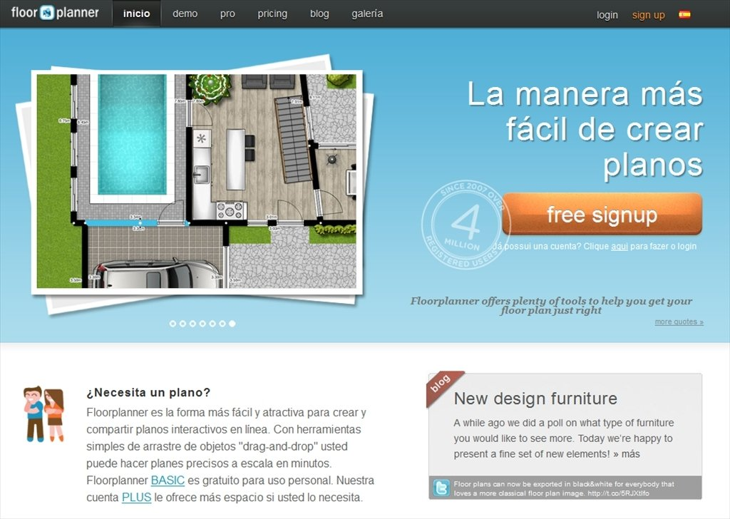 Descarregar floorplanner webapps gr tis for Floorplanner software