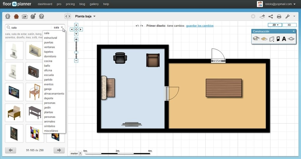 Floorplanner gratis for Floorplanner software