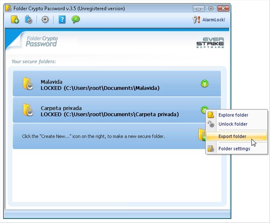 Folder Crypto Password image 5
