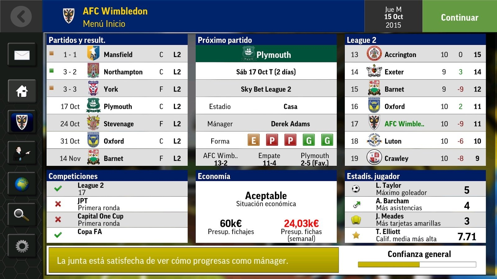 Football Manager Mobile 2016 Android image 5