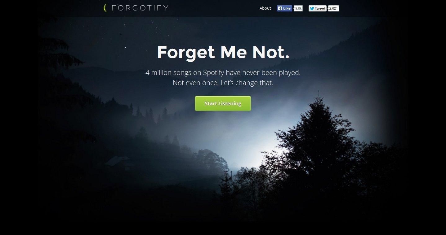 Forgotify Webapps image 2