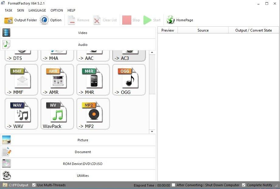 """عملاق التحويل الشهير """" Format Factory 2.96 """" أروع محولات الفيديو والصوتيات والصور"""