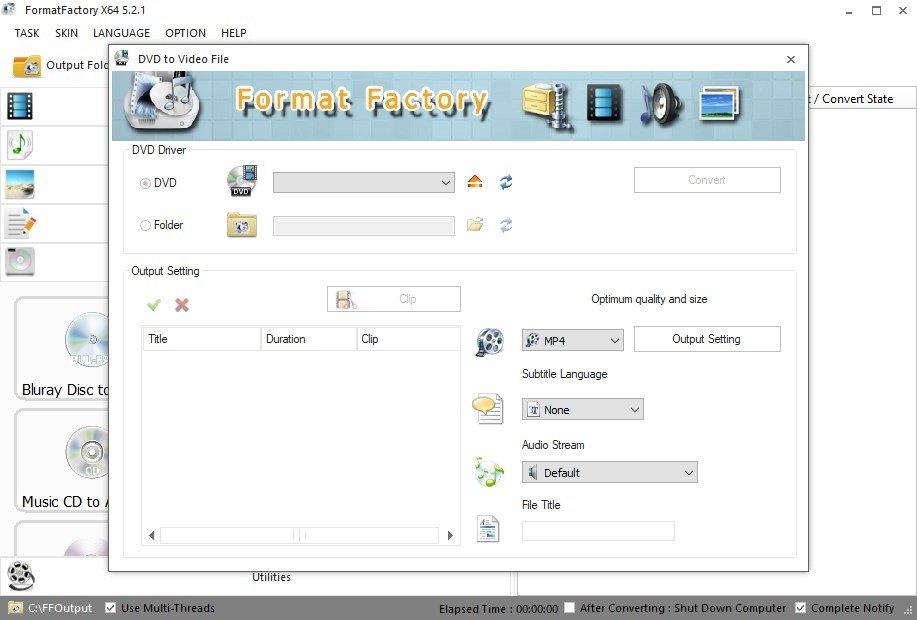 Format Factory 4 8 0 0 - Télécharger pour PC Gratuitement