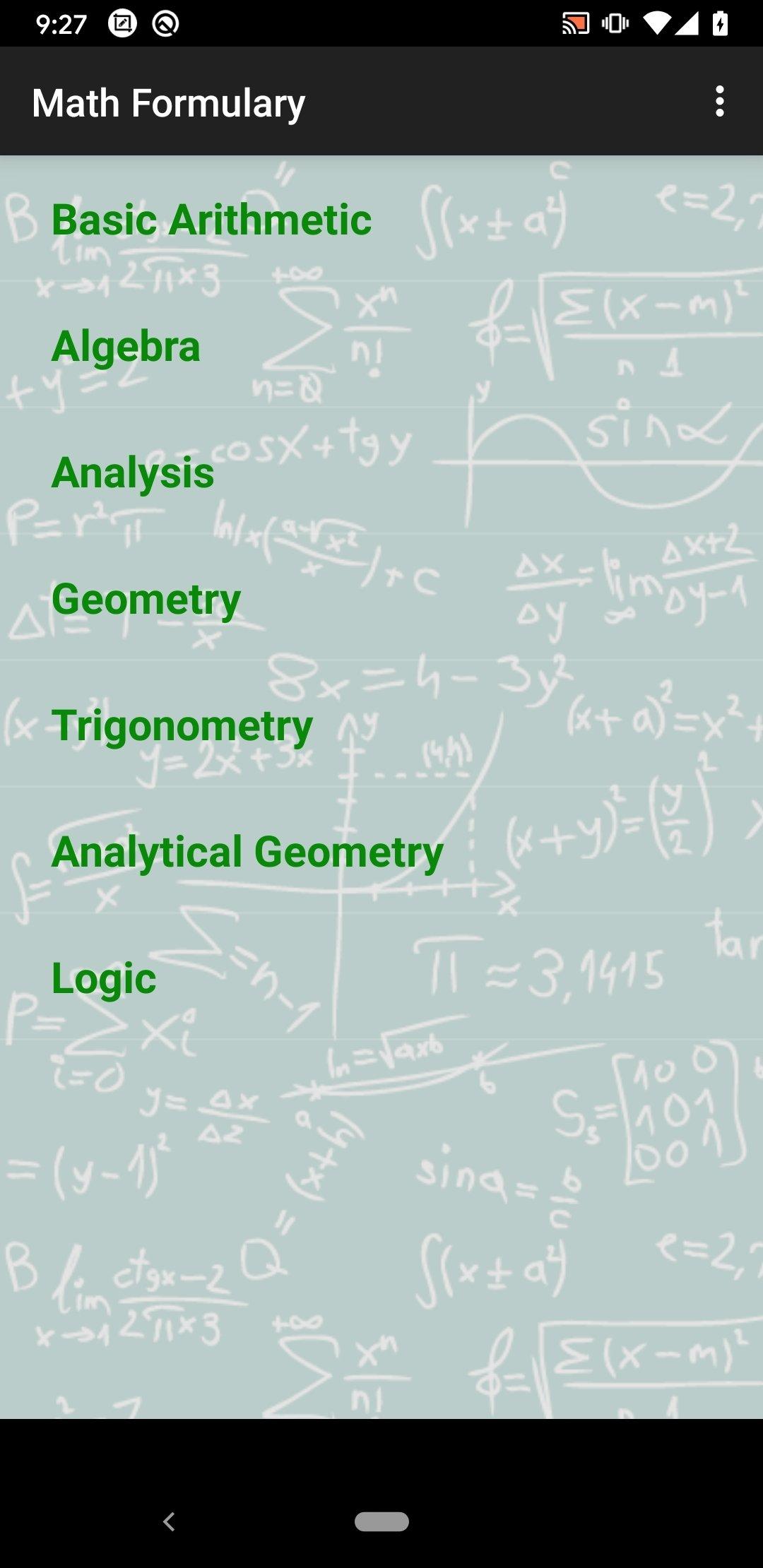 Formules mathématiques Android image 8