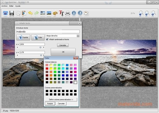 fotosketcher gratis italiano