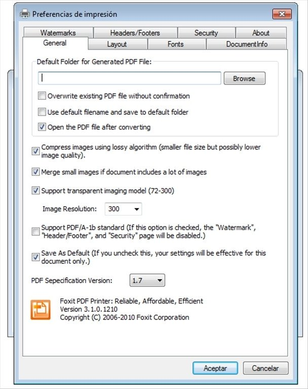 Foxit PDF Creator 3 1 0 1210 - Download for PC Free