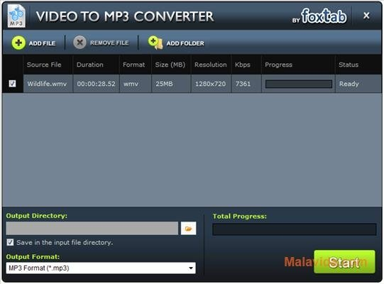FoxTab Video to MP3 Converter image 3