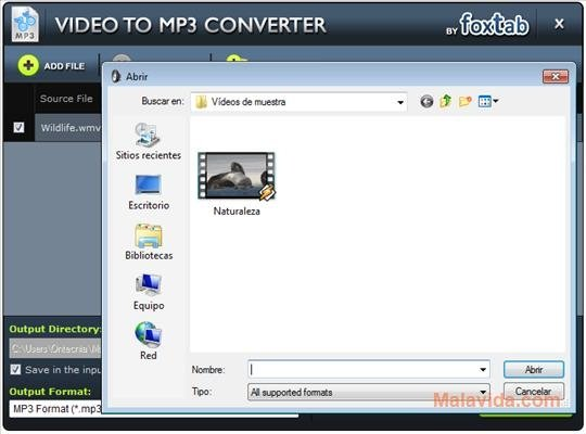 foxtab video to mp3