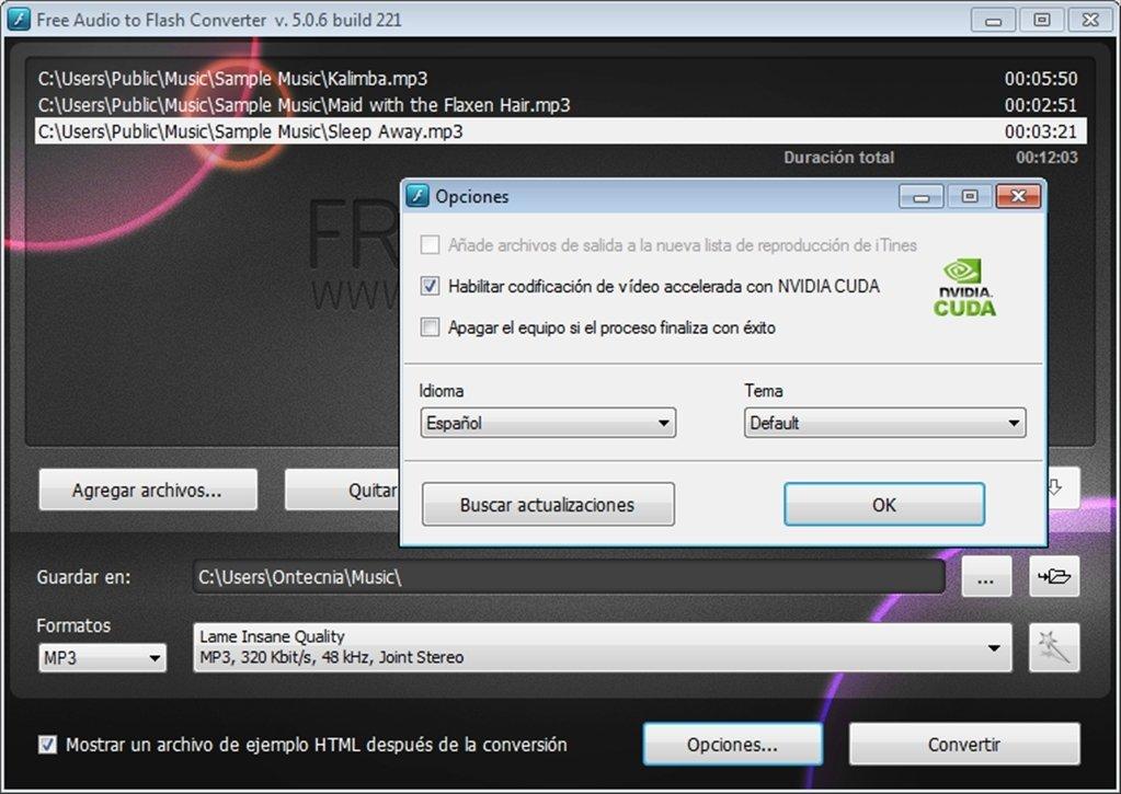 Free Audio to Flash Converter image 4