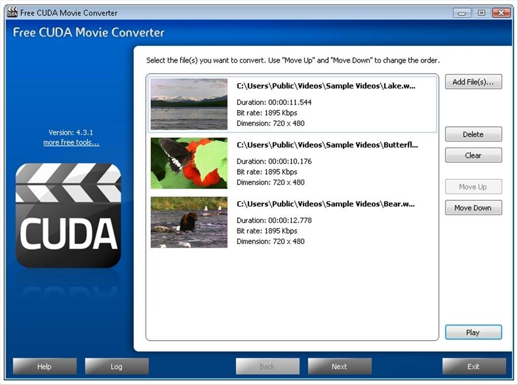 Free CUDA Movie Converter image 5