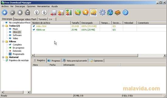 descargar gratis free download manager en espa?ol