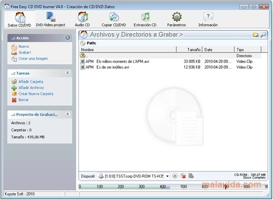 Free Easy CD DVD Burner 5 1 0 - Download for PC Free