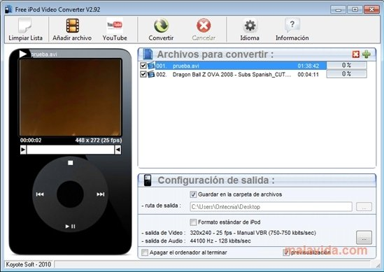 YASA DVD to iPod Converter - Download Free with ...