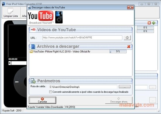 koyote free ipod video converter