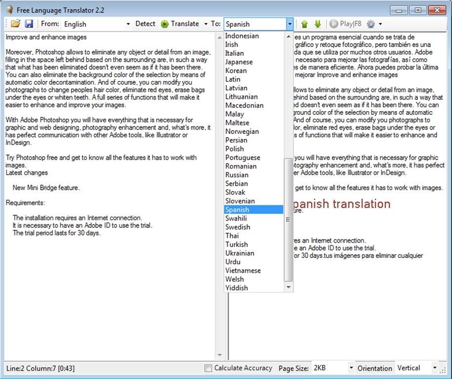 Free Language Translator 2 2 - Download for PC Free