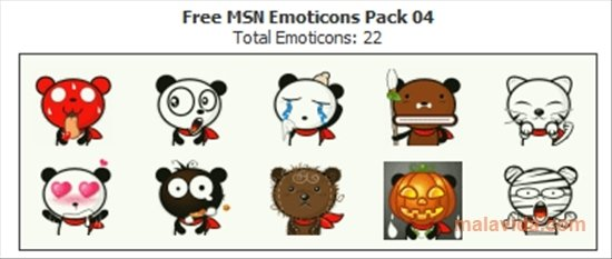 Free MSN Emoticons Pack 4 - Download for PC Free