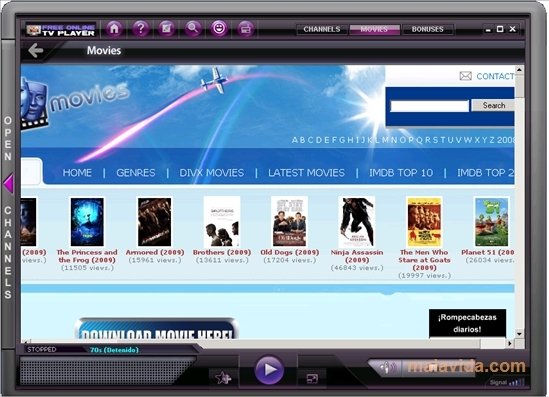 free online tv player 2.0.0.9 gratuit