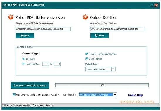 Free PDF to Word DOC Converter image 2