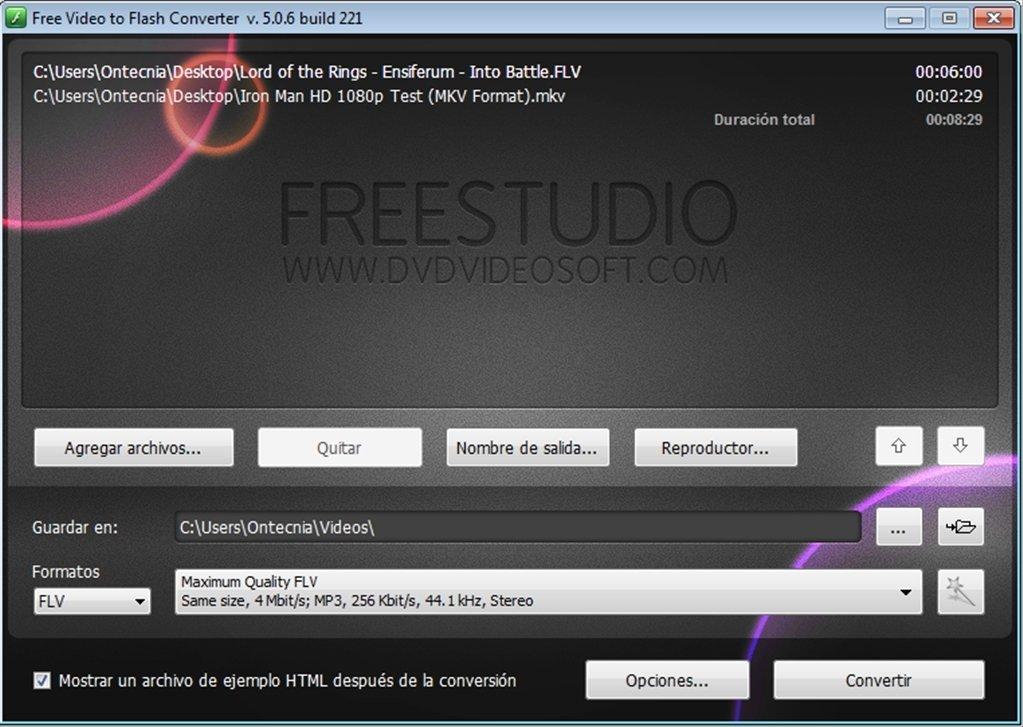 Free Video to Flash Converter image 4