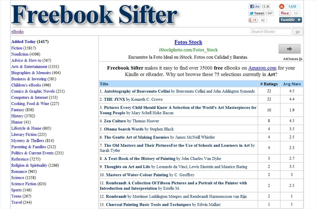 Freebook Sifter Webapps image 3