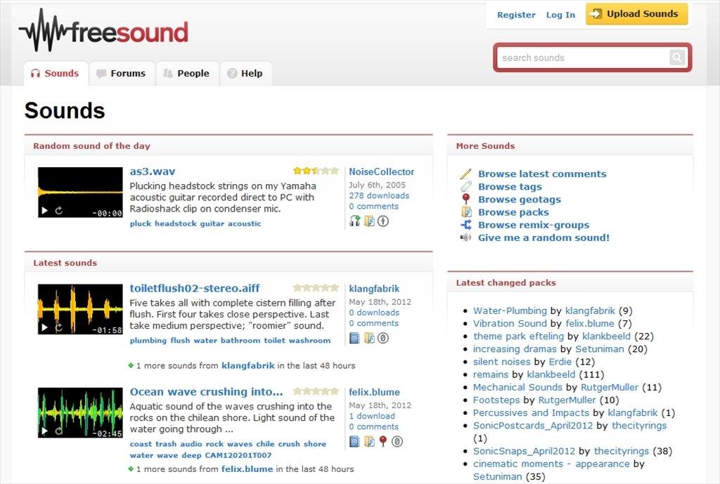 Freesound Webapps image 5