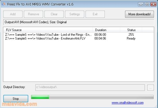 freez flv to avi/mpeg/wmv converter 1.6