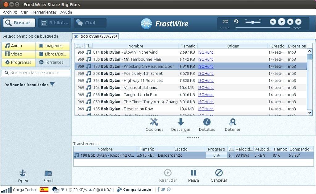 FrostWire Linux image 5