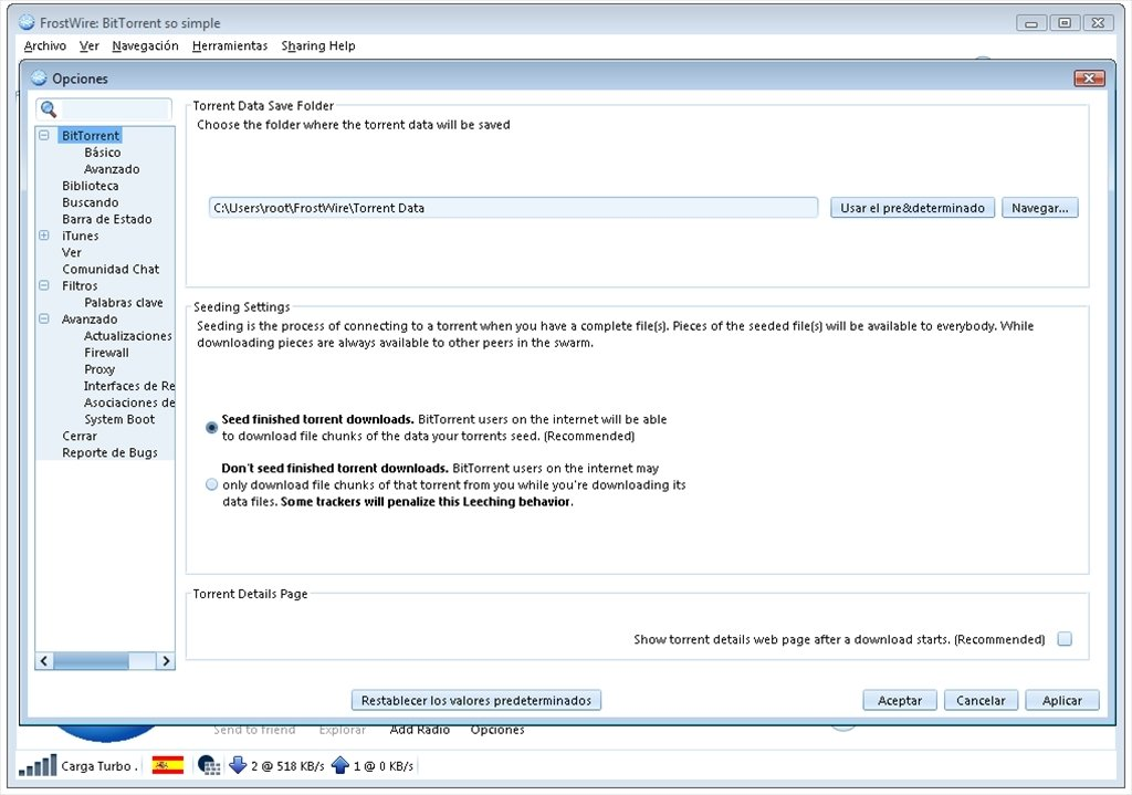 frostwire en francais windows 7