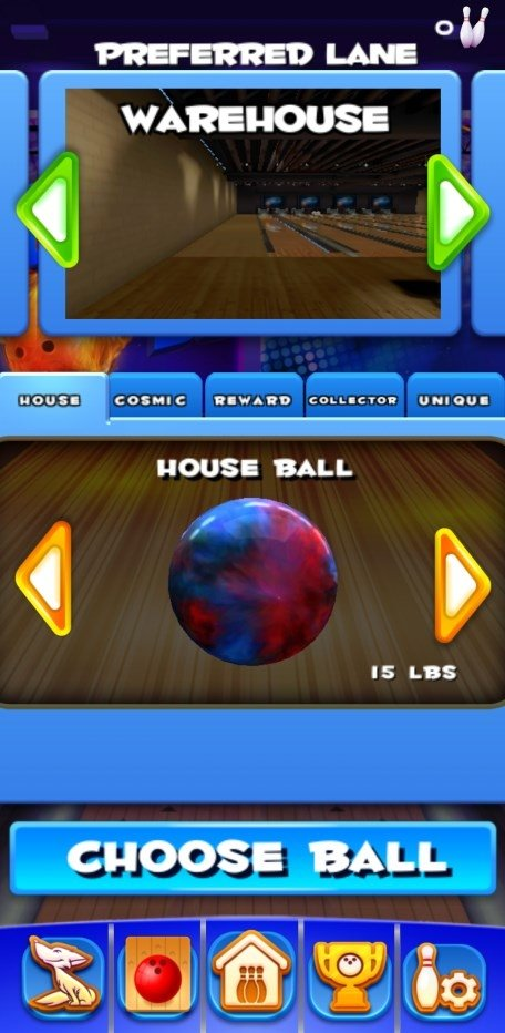 galaxy bowling game