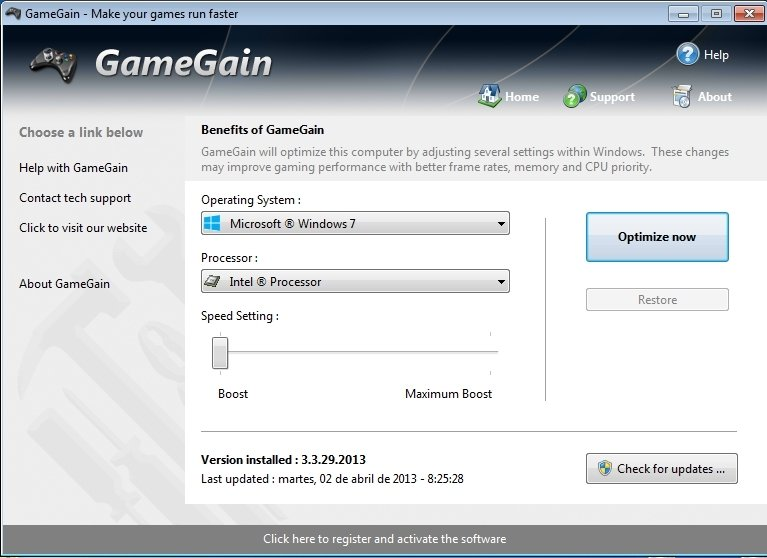 gamegain features