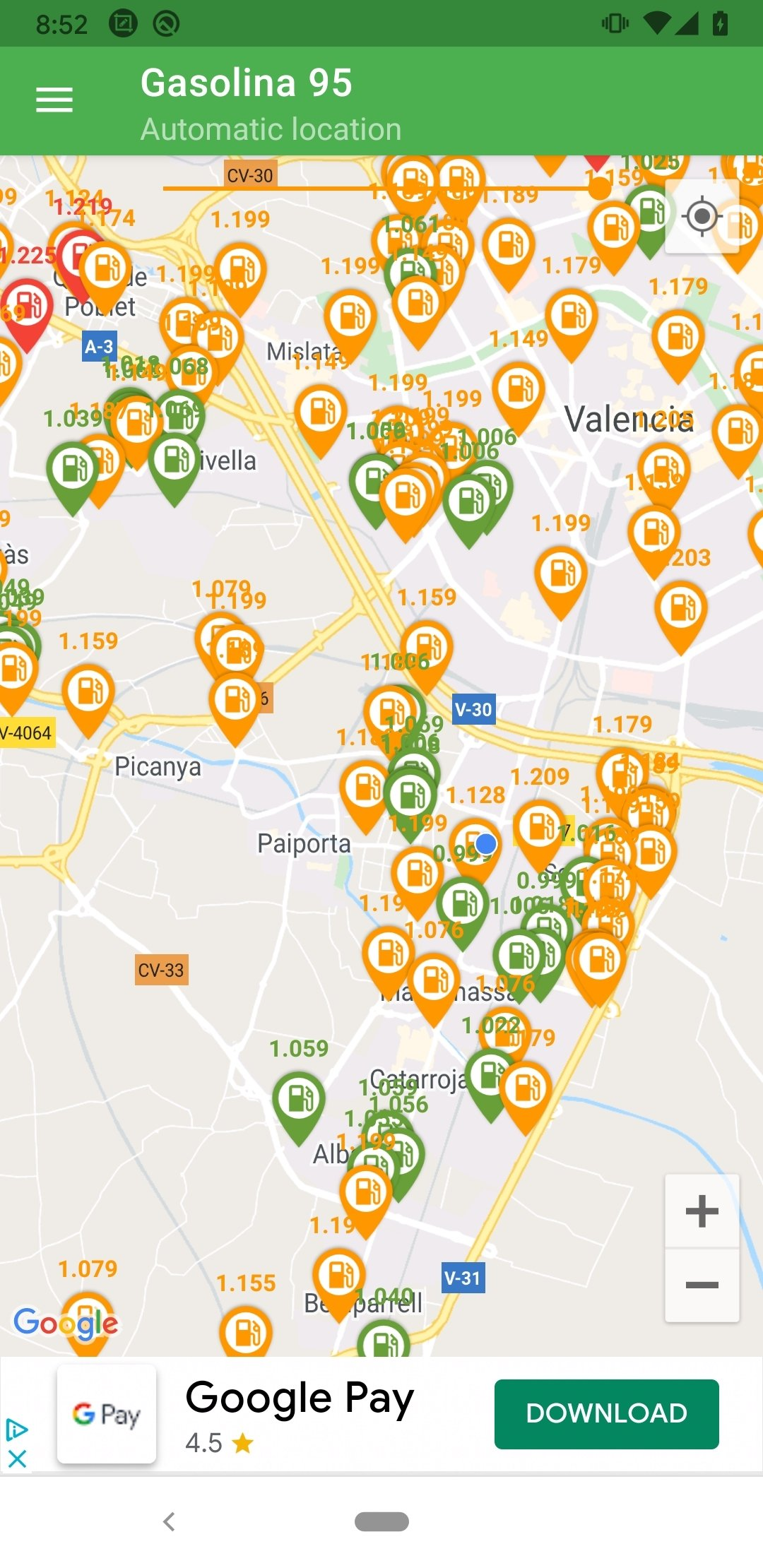 Gasoline and Diesel Spain Android image 4