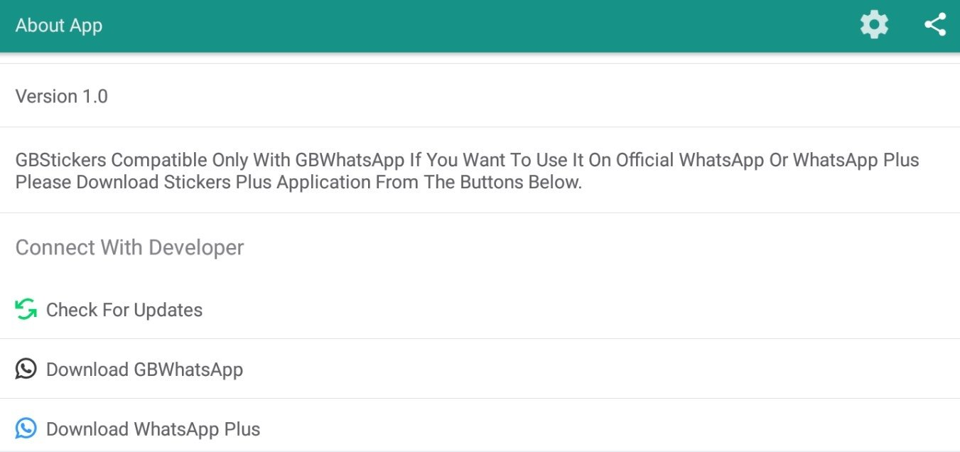 GBStickers - Stickers for GBWhatsApp 1 40 - Download for Android APK