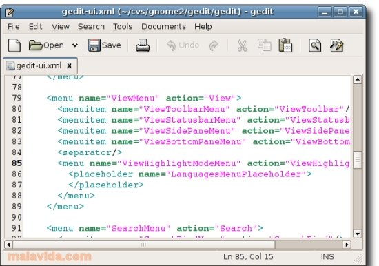 gedit Linux image 3