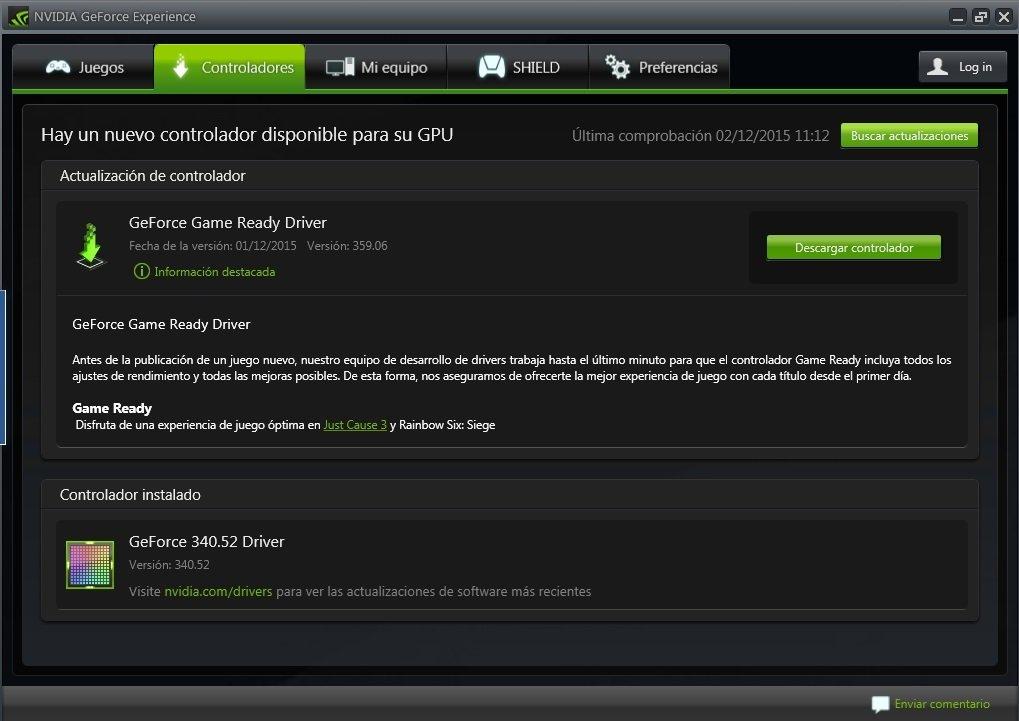 GeForce Experience 3.20.0.118 - Descargar para PC Gratis