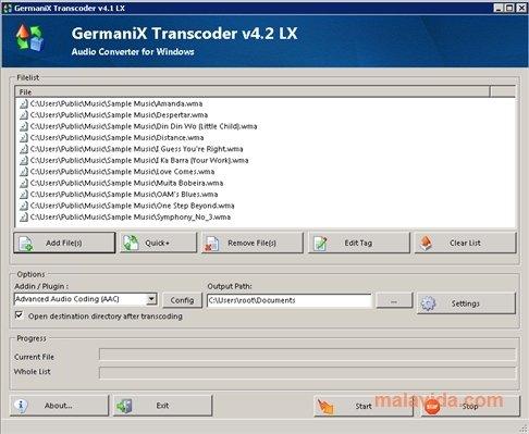 GermaniX Transcoder image 4