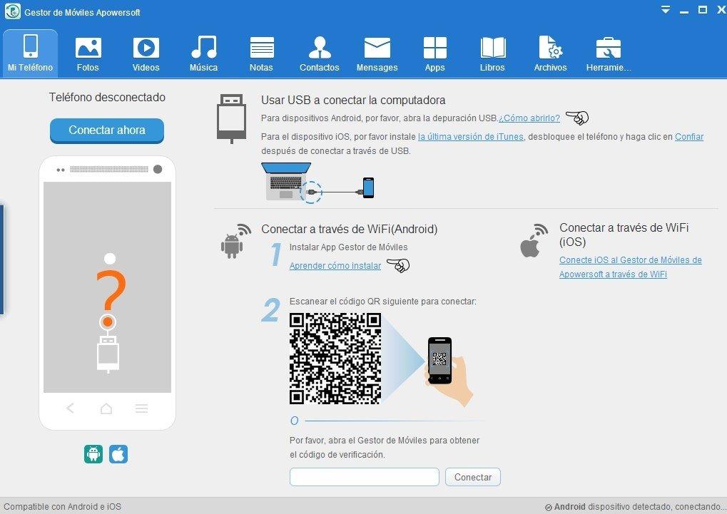 Gestor De Móviles Apowersoft 3 2 4 2 Descargar Para Pc Gratis