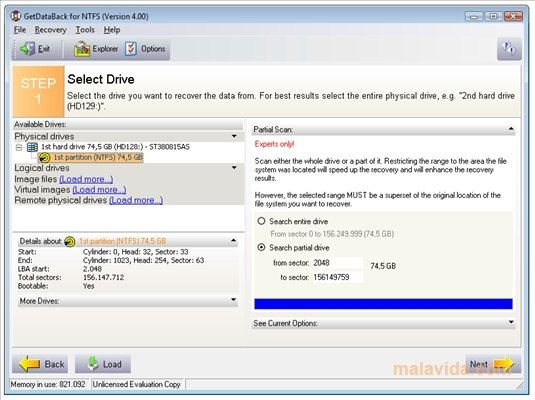 GetDataBack for NTFS 4.30