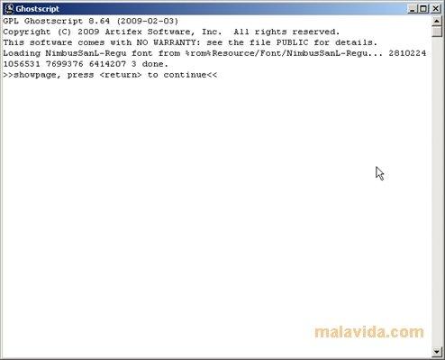 ghostscript pour windows 7