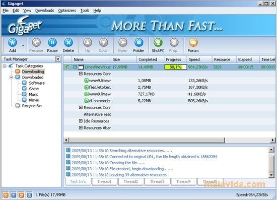 logiciel gigaget gratuit