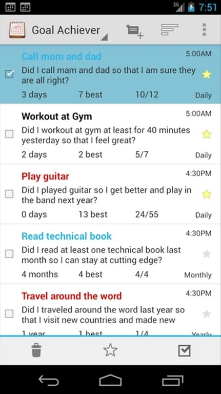 Goal Tracker Android image 6