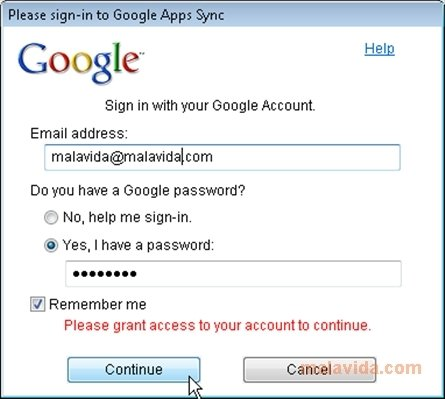 Google Apps Sync image 3