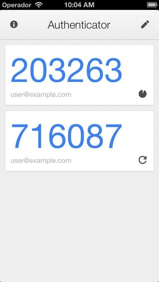 Google Authenticator iPhone image 2