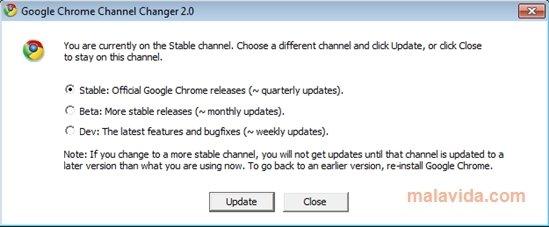 Google Chrome Channel Chooser image 3