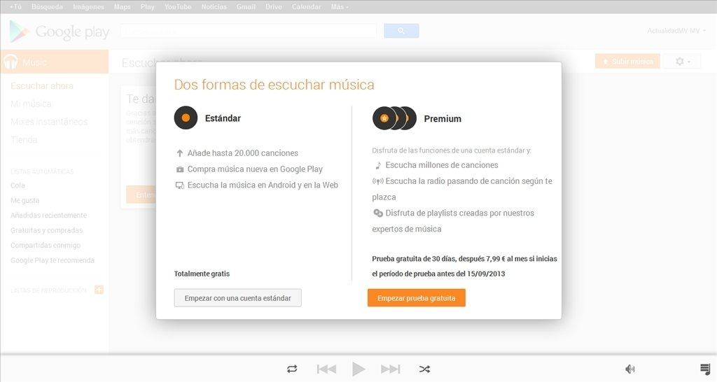 Google Music Webapps image 5