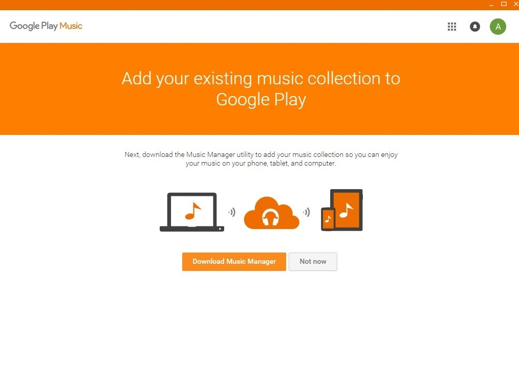 how to use google play music on pc