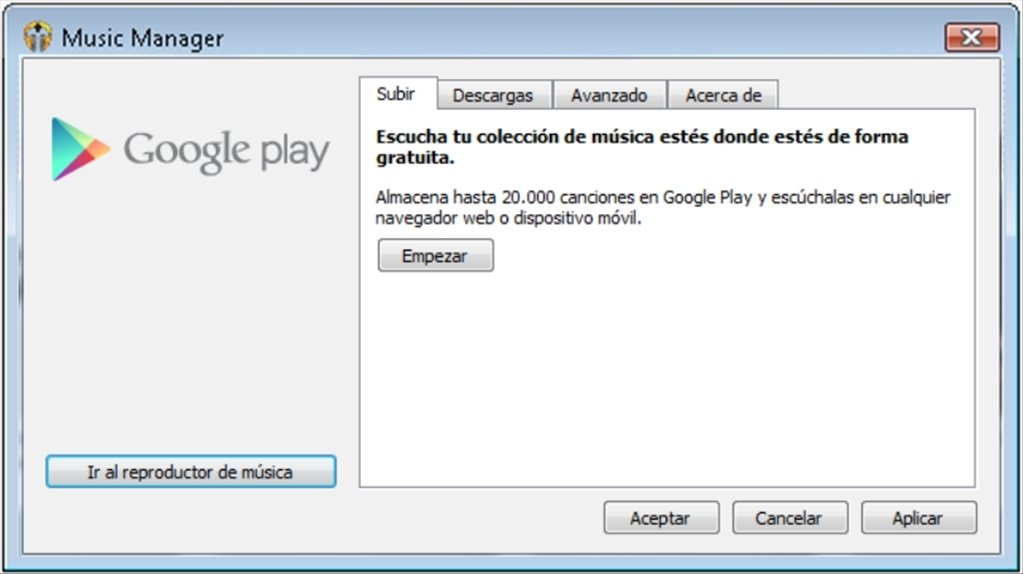 google play download music manager