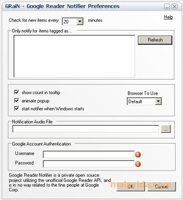 Google Reader Notifier image 4