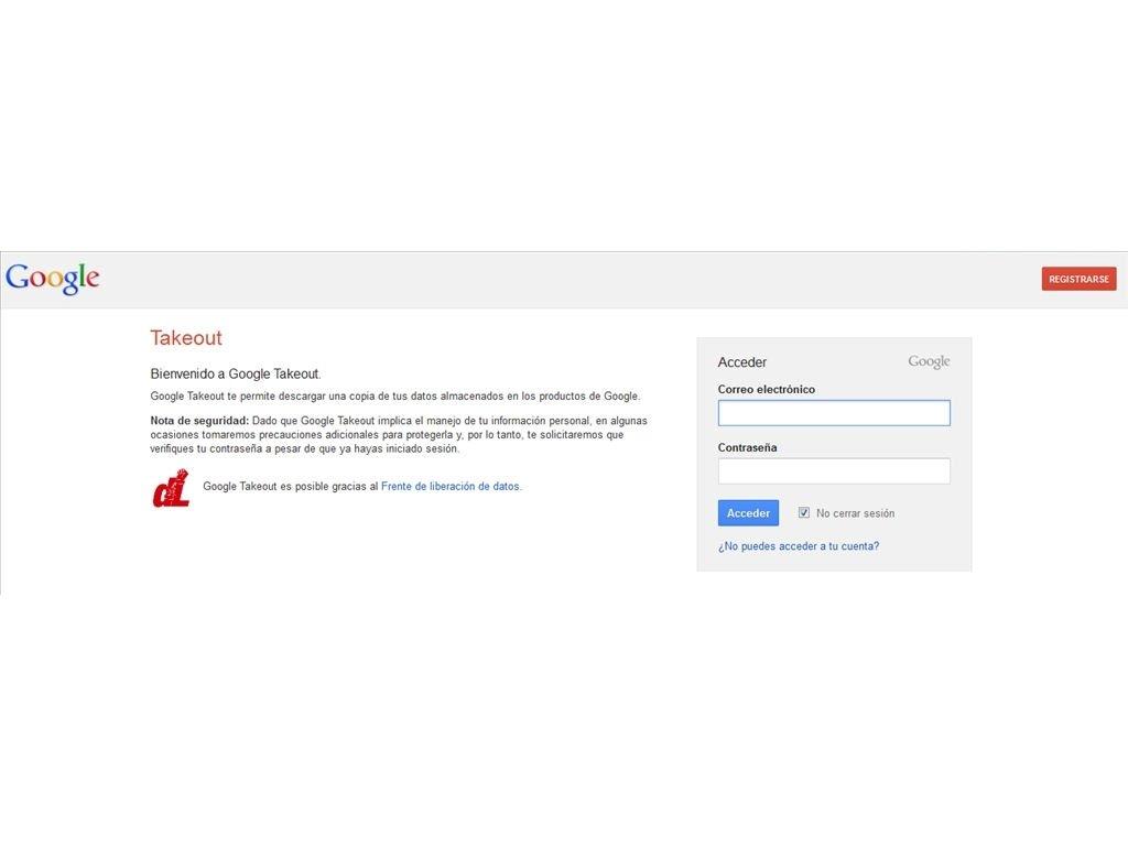Takeout google